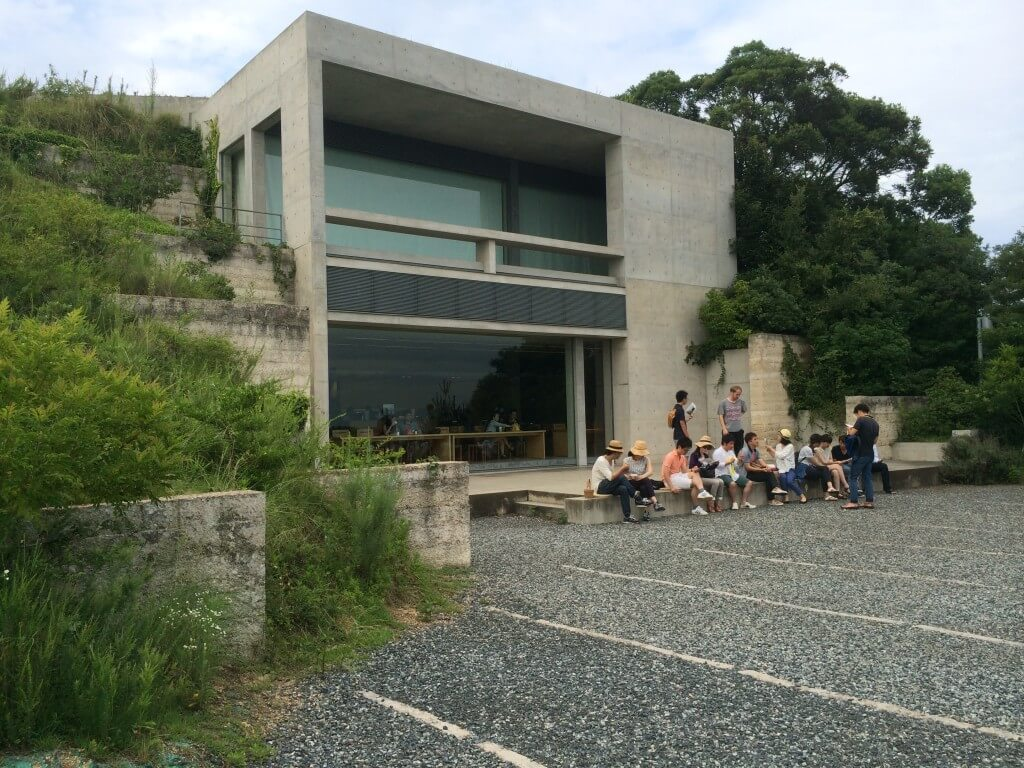 בית הקפה מחוץ למוזיאון צ'י צ'ו