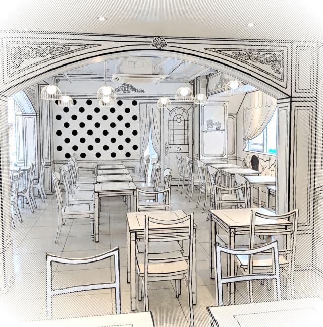 בית הקפה הדו מימדי בטוקיו